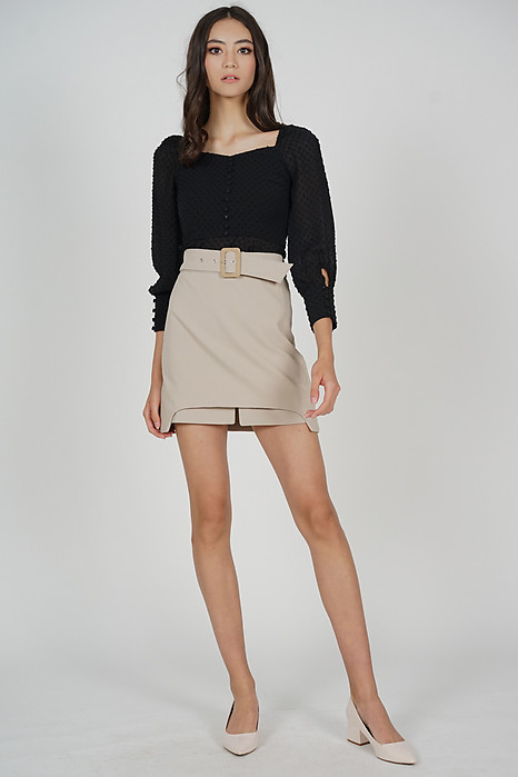 Alastir Overlay Skirt in Khaki - Arriving Soon