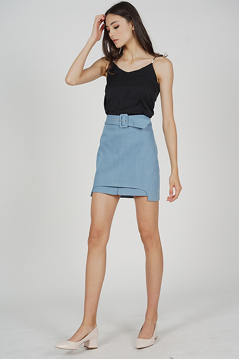 Alastir Overlay Skirt in Light Blue - Arriving Soon