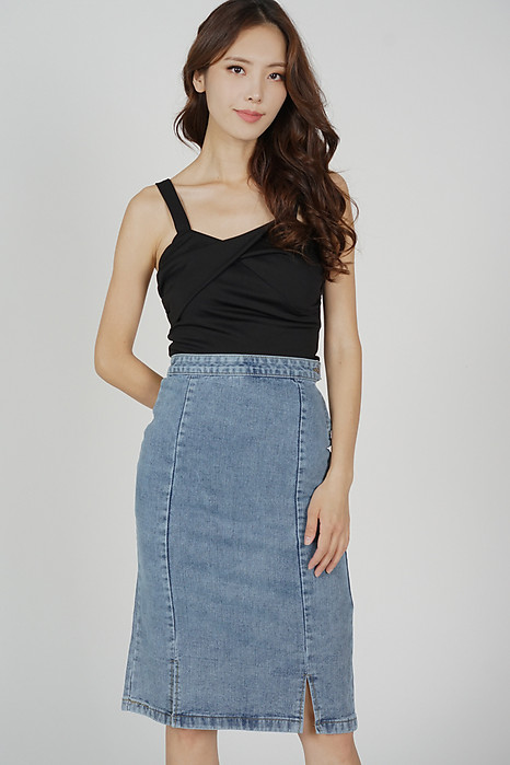 Eleri Denim Skirt in Blue - Online Exclusive