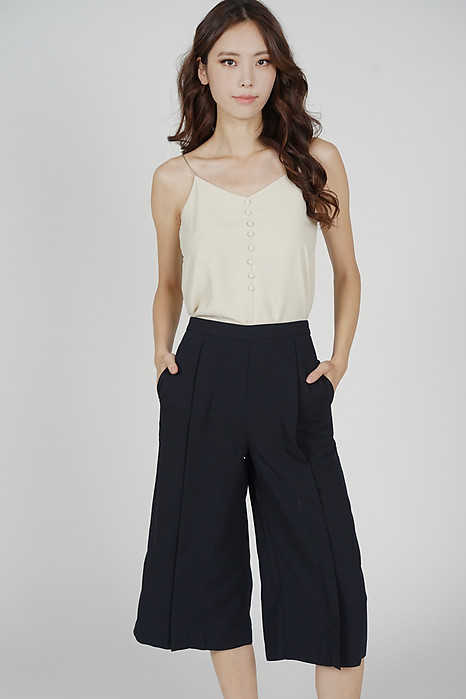 Deanie Pleated Culottes in Midnight