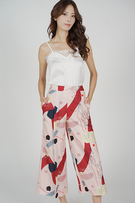 Marno Abstract Pants in Pink Red - Arriving Soon