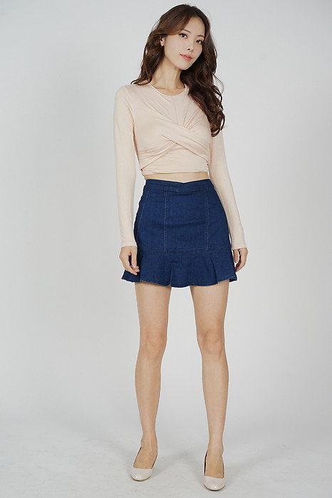 Onda Ruffled-Hem Skorts in Blue - Online Exclusive