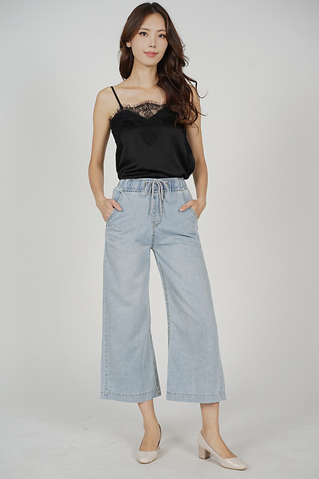 Felix Drawstring Denim Pants in Light Blue - Online Exclusive