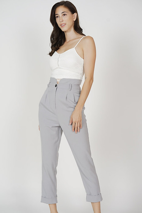 Jabril Straight Pants in Grey - Arriving Soon