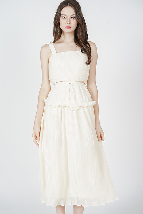 Kadnis Frill Skirt in Cream - Arriving Soon