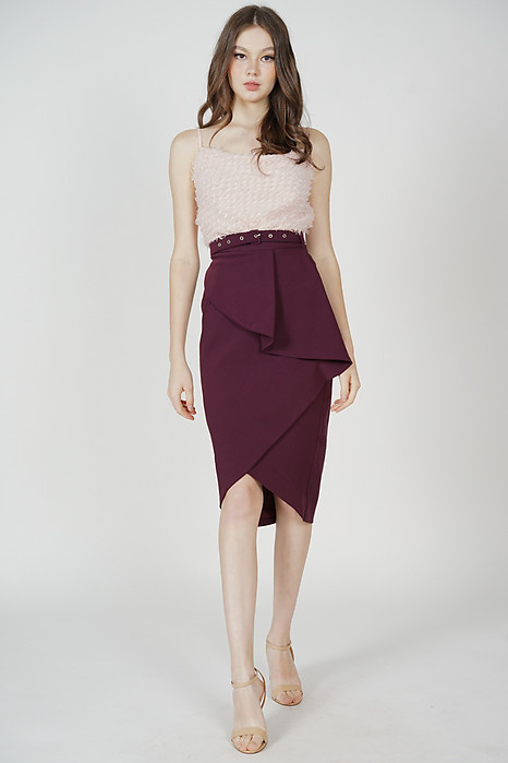 Helga Fold-Over Skirt in Oxblood - Arriving Soon