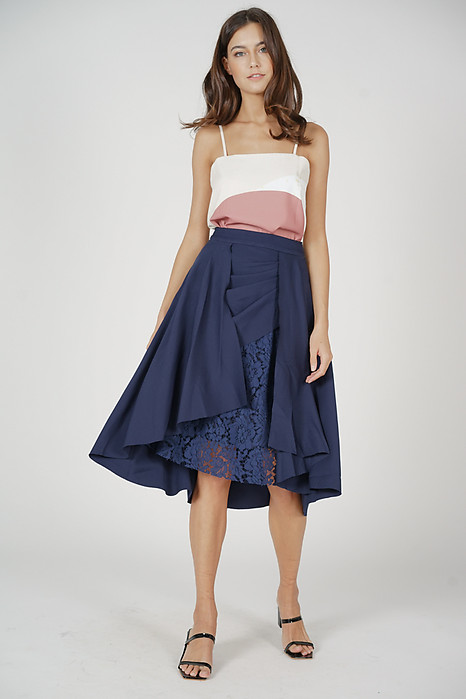 Farryn Overlay Skirt in Navy - Arriving Soon