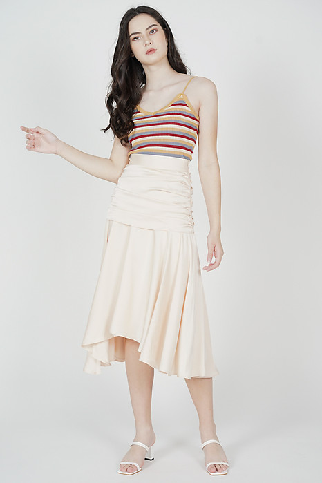 Mergen Drape Skirt in Cream - Arriving Soon