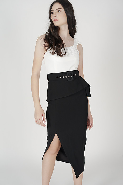 Biryo Fold-Over Skirt in Black - Arriving Soon