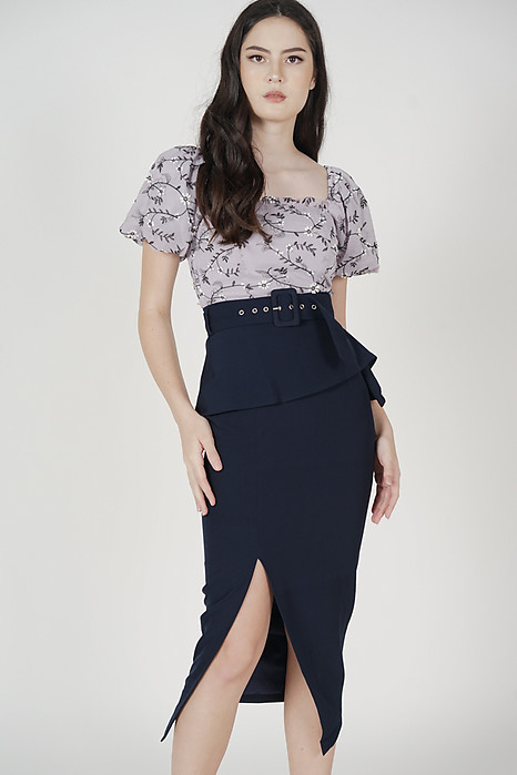 Biryo Fold-Over Skirt in Midnight - Arriving Soon