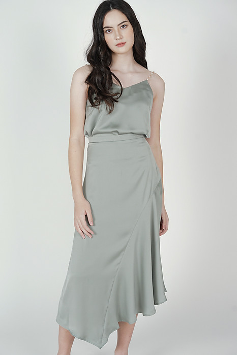Viki Flared Skirt in Sage - Arriving Soon