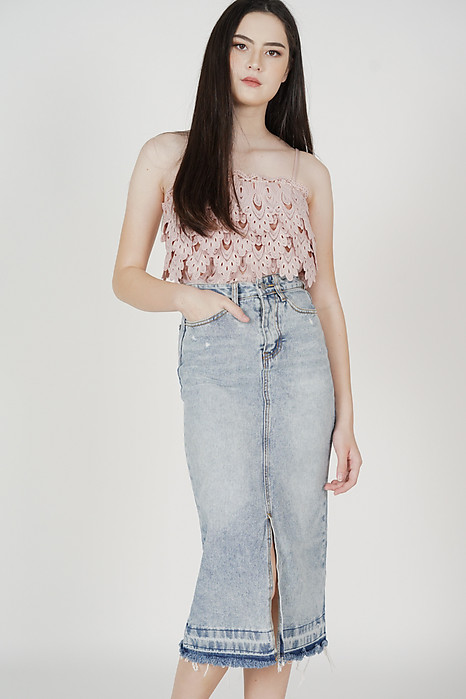 Keni Denim Skirt in Blue - Online Exclusive