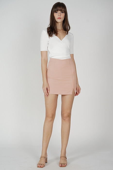 Gorden Mini Skirt in Light Pink - Online Exclusive