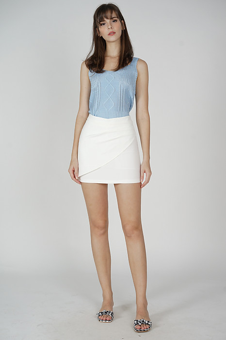 Baki Mini Skirt in White - Online Exclusive