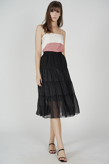 Bertie Flared Skirt in Black - Online Exclusive
