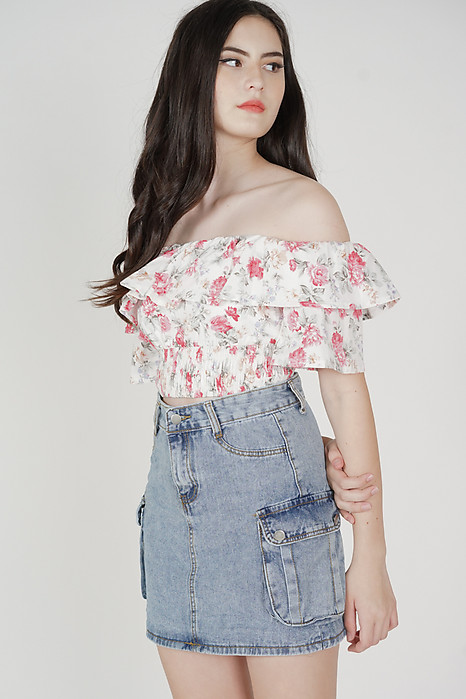 Kina Denim Skirt in Blue - Online Exclusive