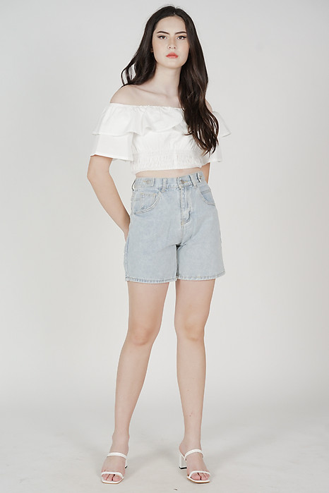 Anita Denim Shorts in Light Blue - Online Exclusive
