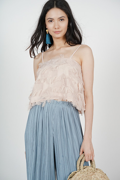 Fringed Cami in Blush