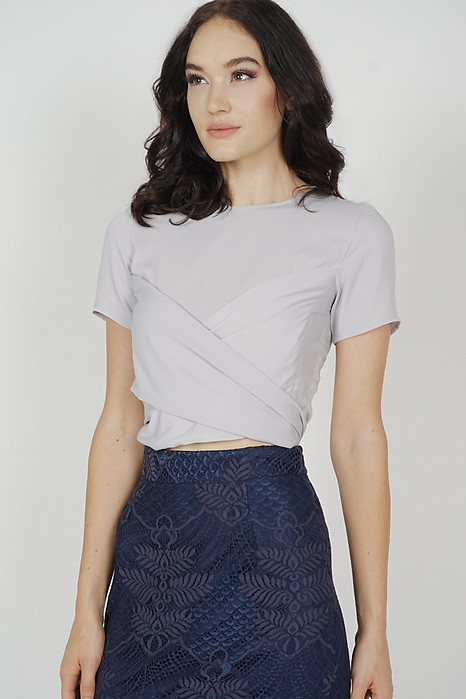 Abel Criss Cross Top in Grey