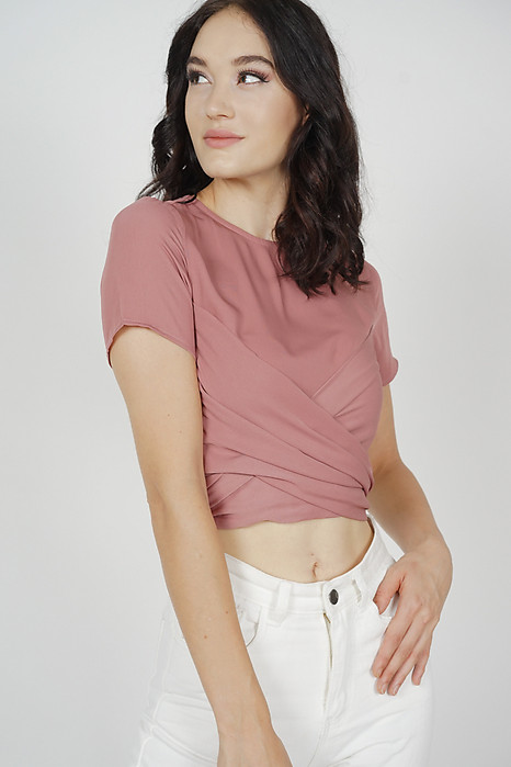 Abel Criss Cross Top in Mauve - Arriving Soon