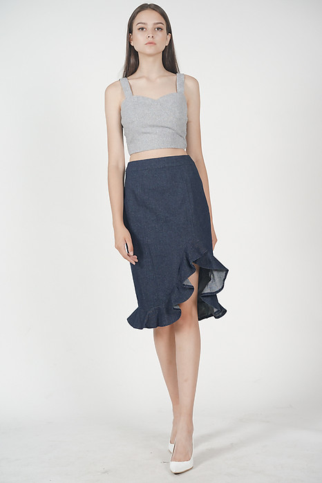 Palmira Cropped Top in Grey