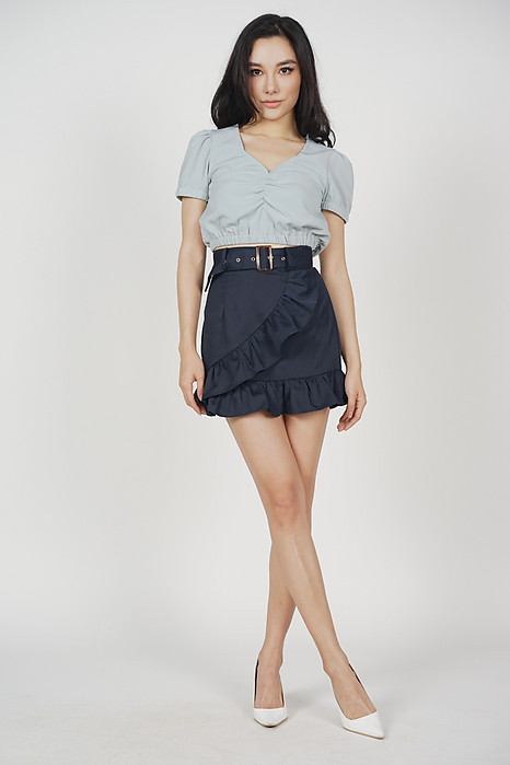 Gillian Puff Top in Ash Blue - Arriving Soon