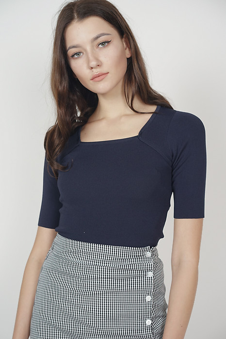 Andrea Knit Top in Midnight