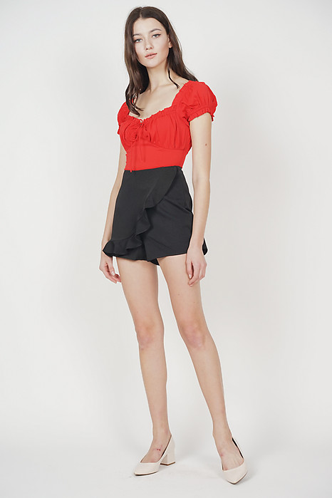 Meg Puffy Top in Red - Arriving Soon