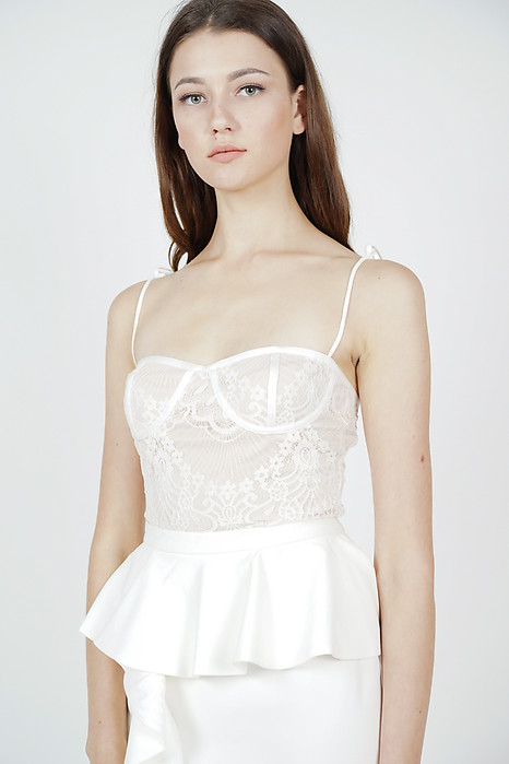 Chester Lace Cami Top in White