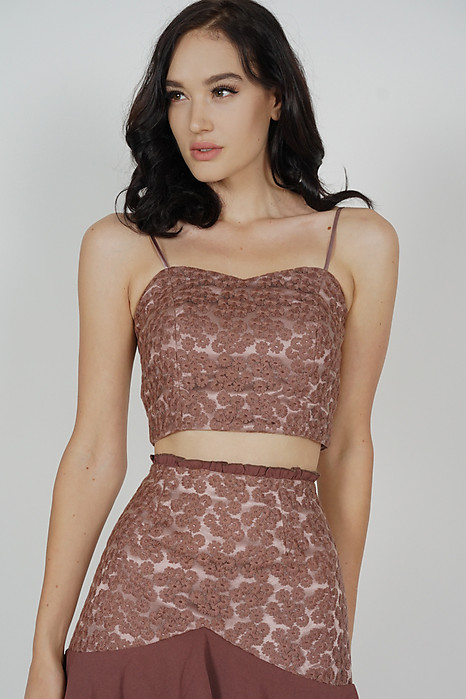 Felicia Cami Top in Brown - Arriving Soon