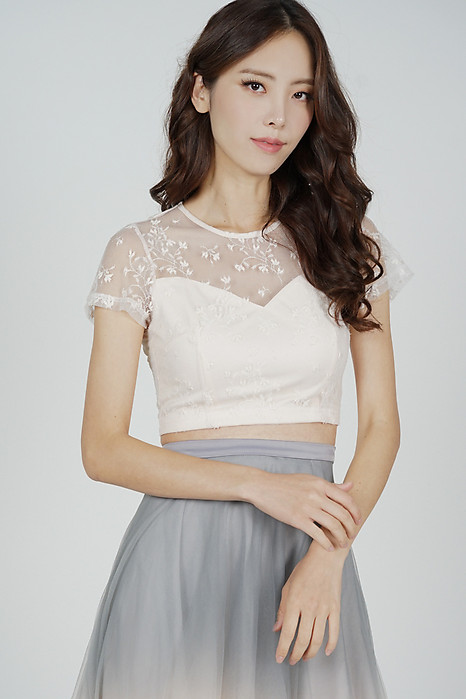 Gali Lace Top in Cream - Arriving Soon