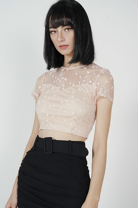 Gali Lace Top in Pink - Arriving Soon