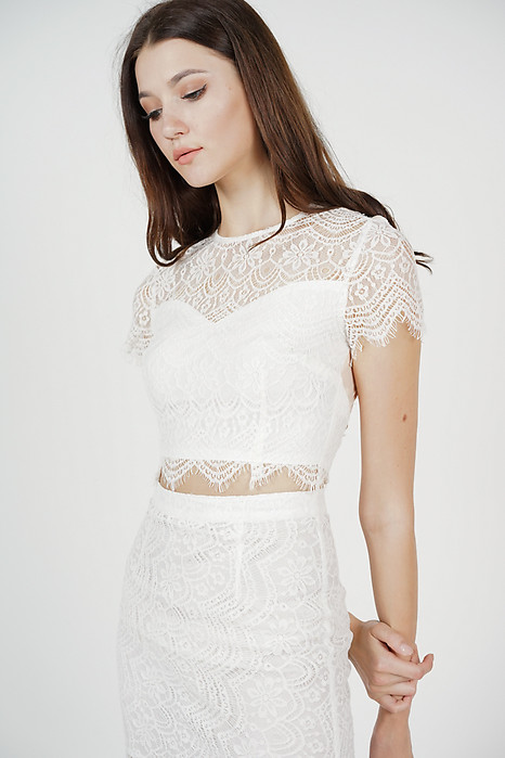 Dorcia Lace Top in White