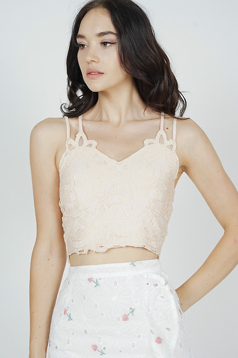 Naida Lace Top in Nude - Arriving Soon