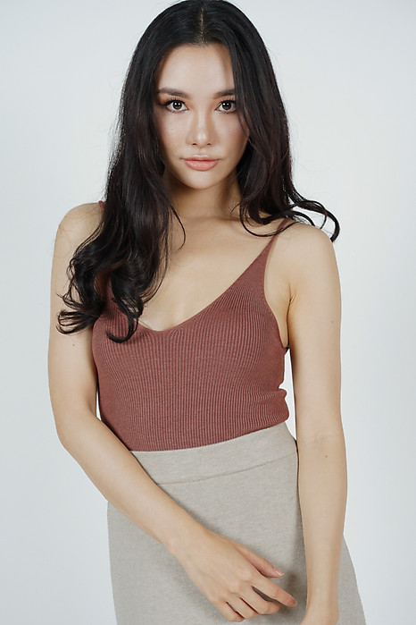 Henley Knit Top in Sienna (Online Exclusive)
