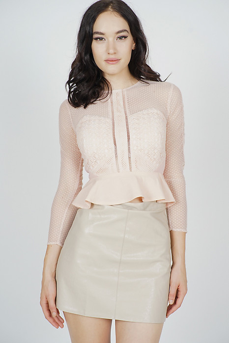 Hilary Sheer Top in Pink