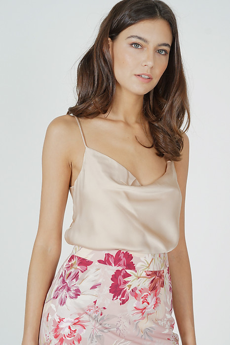 Elise Satin Top in Champagne - Online Exclusive