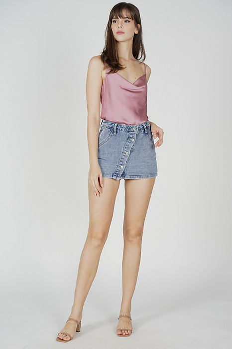 Elise Satin Top in Pink - Online Exclusive