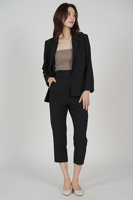 Gretchen Buttoned Blazer in Black - Arriving Soon