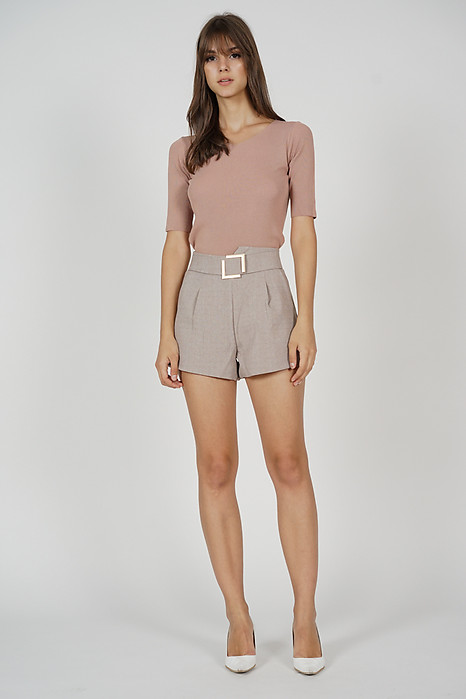 Sheani Top in Taupe - Online Exclusive