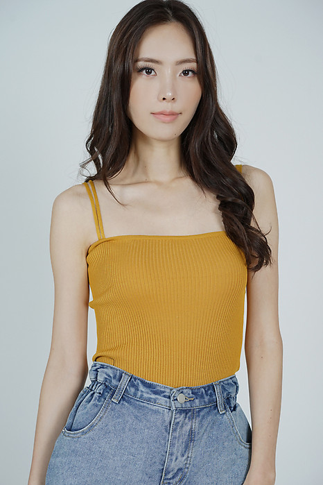 Laney Cami Top in Mustard - Online Exclusive