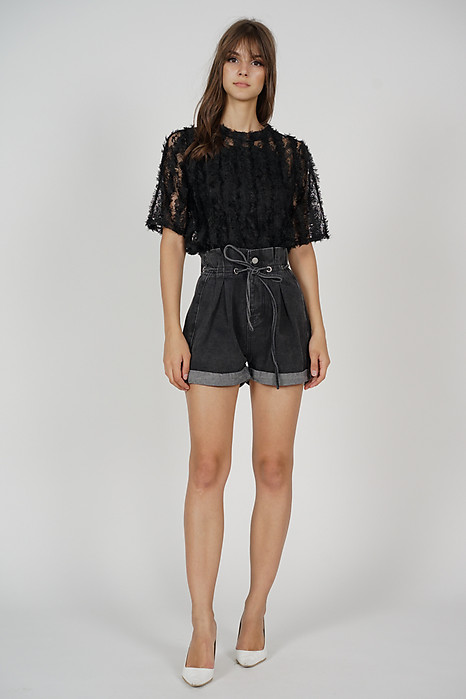 Kacey Sheer Top in Black - Online Exclusive
