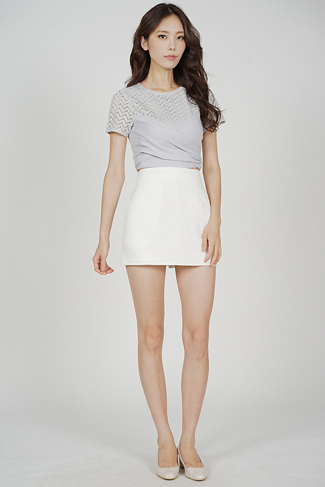 Brendie Criss Cross Top in Grey