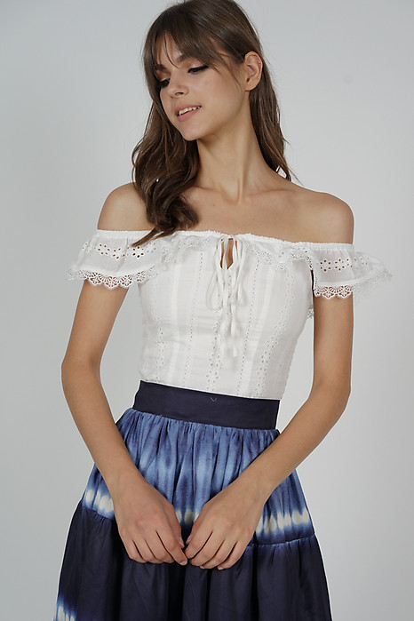 Aetra Crochet Top in White - Arriving Soon