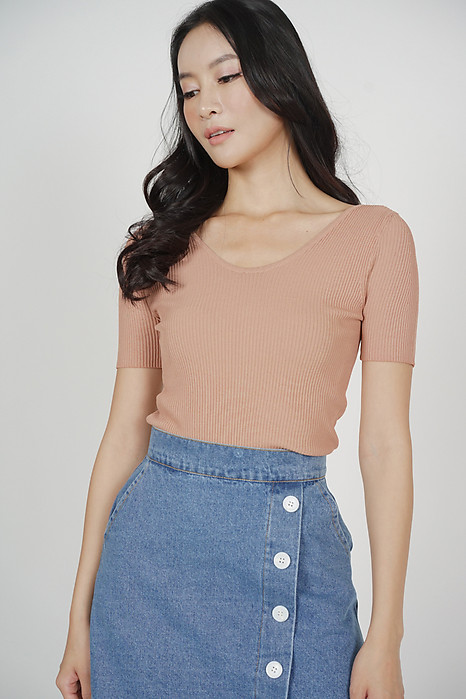 Ashie Knit Top in Pink - Online Exclusive