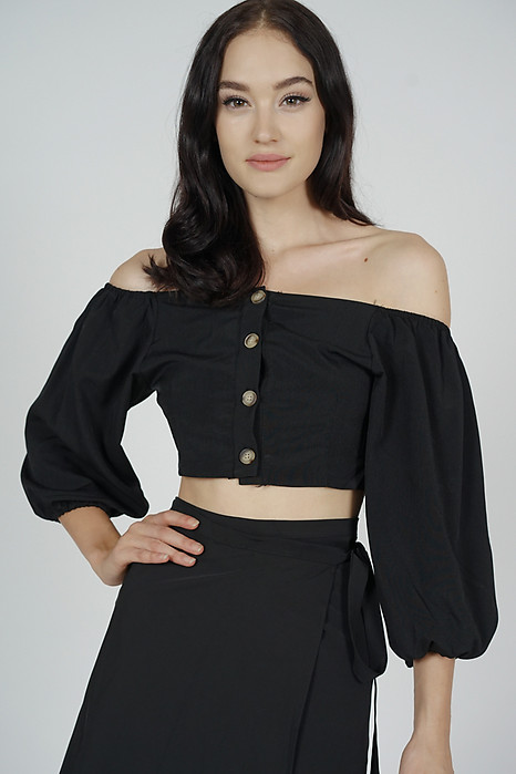 Yora Puffy Top in Black - Arriving Soon