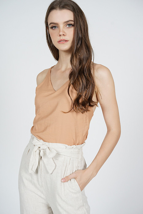 Rawna Cami Top in Camel - Online Exclusive
