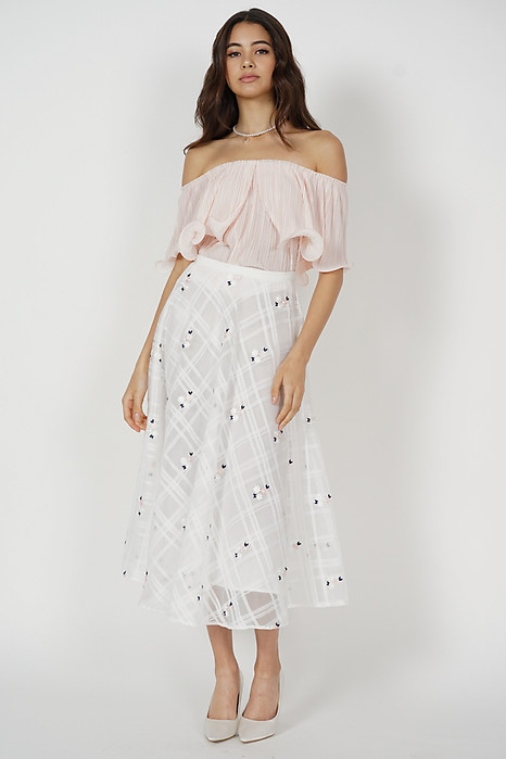 Jubi Pleated Ruffle Top in Pink - Arriving Soon