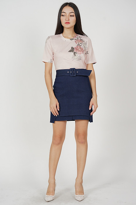 Denish Cotton Tee in Blush Floral