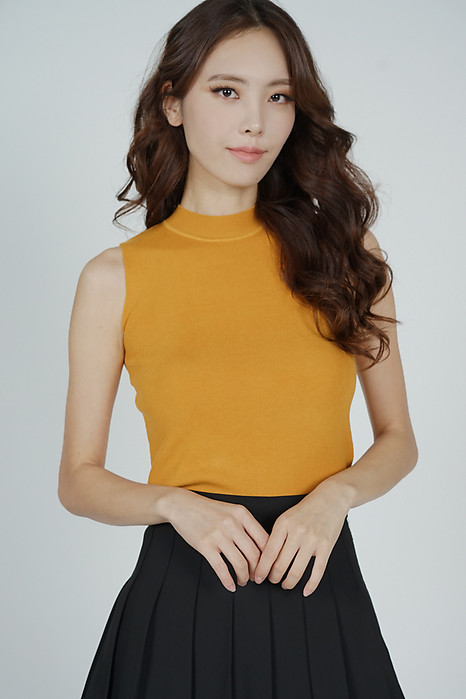 Maby Knit Top in Mustard - Online Exclusive